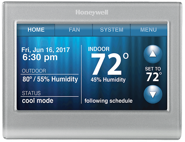 It's time to have complete control of your comfort! The Honeywell Wi-Fi Smart Thermostat is an easy-to-use, digital wireless Wi-Fi thermostat control that provides you with remote access and many other functions through an impressive touch-screen interface.  TheHoneyWell WiFi Programable Thermostat control effectively monitors the indoor and outdoor temperature allowing you to adjust the temperature accordingly.  When it comes to AC controls